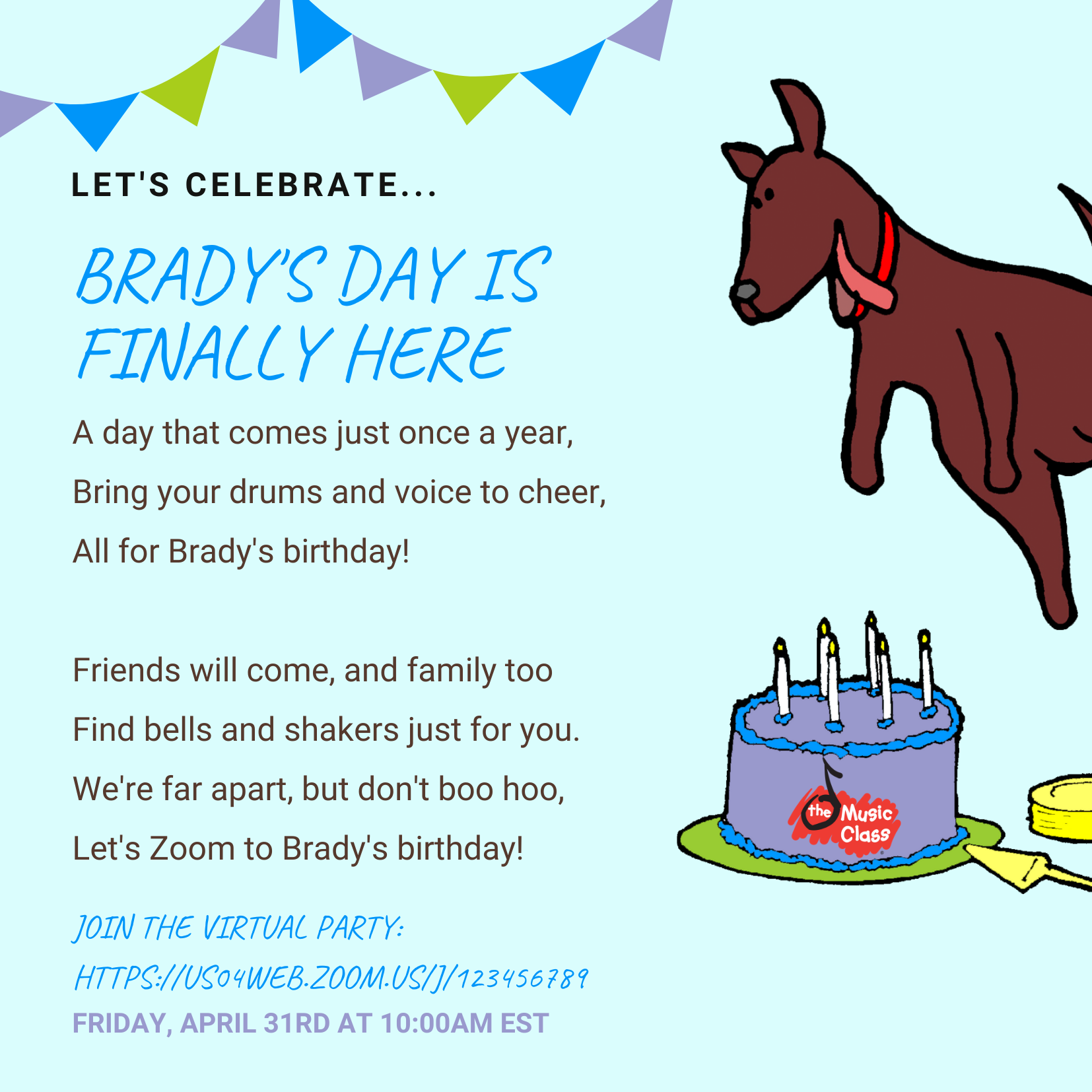 Birthday Party Invite Example